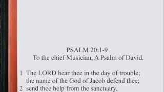 Psalm 20:1-9 ♪♩ KJV Scripture Song, Full Chapter Verbatim