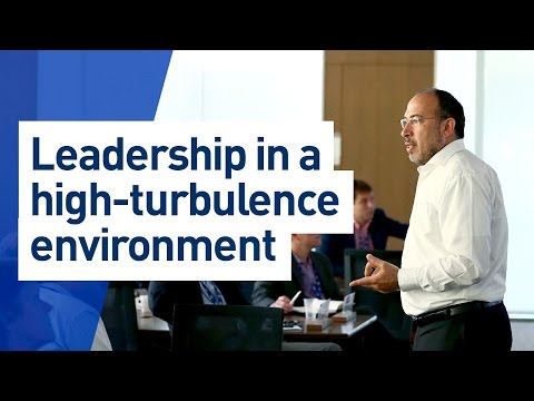 IMD business school class: Leadership in a high-turbulence environment
