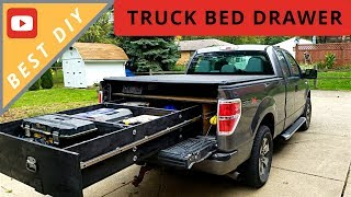 BEST DIY Truck Bed Sliding Drawer