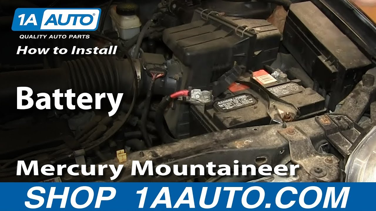 how to install replace battery 2001 2007 ford escape mercury mountaineer [ 1280 x 720 Pixel ]