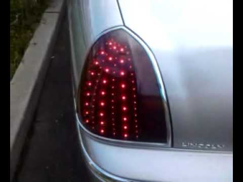 lincoln town car led smd tail lights final tinted w chrome trim youtube. Black Bedroom Furniture Sets. Home Design Ideas