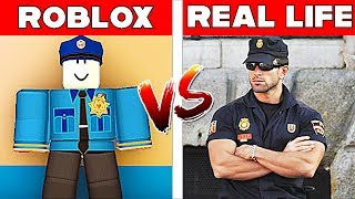 ROBLOX POLICEMAN IN REAL LIFE! Roblox vs Real Life! Minecraft Animation