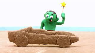 MAgic sand 💕Superhero Play Doh Stop motion cartoons