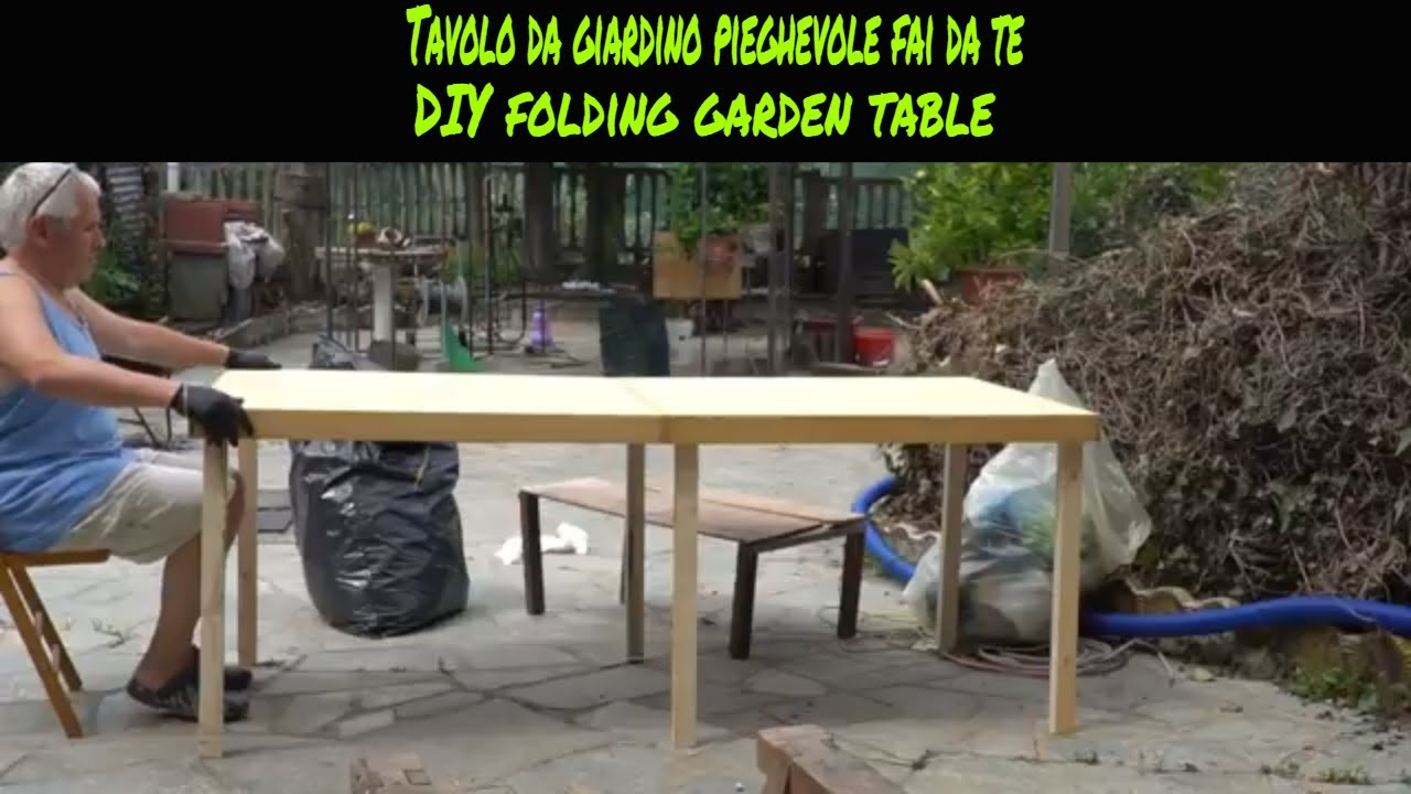 Costruire Un Tavolo Da Giardino In Legno.Tutorial Costruire Un Tavolo Da Giardino Pieghevole Fai Da Te How