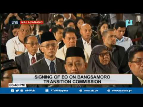 Signing of EO on Bangsamoro Transition Commission, November 7, 2016