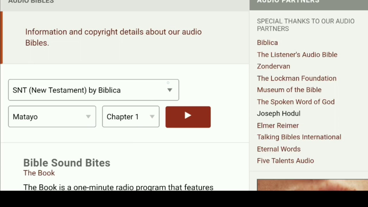Listening to the bible Review of Biblegateway com Audio Bible