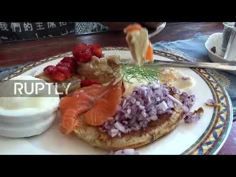 Helsinki cafe offers taste of Trump-Putin meeting with fusion pancakes