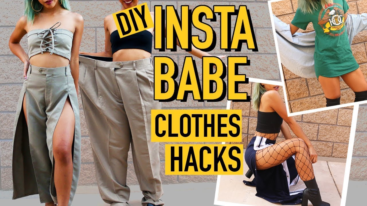 DIY MENS CLOTHES TO INSTAGRAM BADDIE CLOTHING HACKS! | DIY | Nava Rose