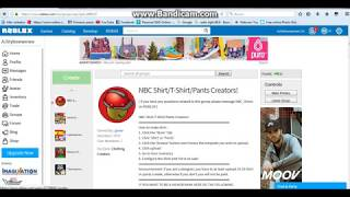 ROBLOX How to Create Your Own T-Shirts and Pants For Free!