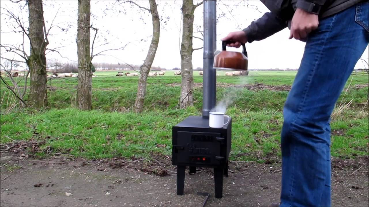 Wildo Wood Stove First Test Youtube