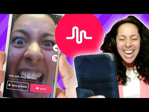 Girl tries Musical.ly for the first time! :D LOL (Mystery Gaming)