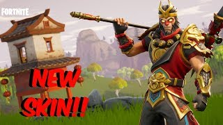 Fortnite Battle Royale - **NEW SKIN** WUKONG THE MONKEY KING!! - I HATE THIS BUG!!