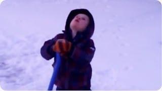 "Cold Snow Shoveling Little Boy | ""Jesus Make It Warm!"""