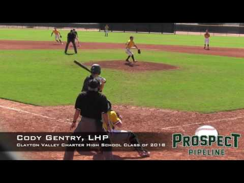 Cody Gentry Prospect Video, LHP, Clayton Valley Charter High School Class of 2018