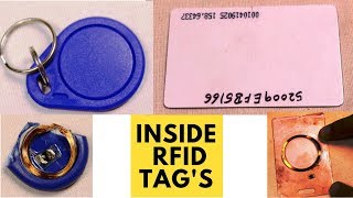 Inside view of RFID Tag with full Detailing Along with RFID Reader