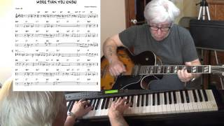 More Than You Know - Jazz guitar & piano cover ( Vincent Youmans ) Yvan Jacques