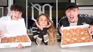 KrispyKreme eating challenge | Sommer Ray vs Faze Jarvis vs Faze Kay