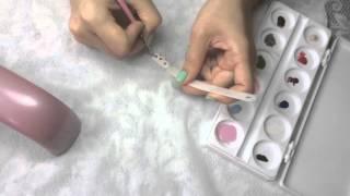 Дизайн гель-красками Эми, гель-лак Kodi, Эми дизайн