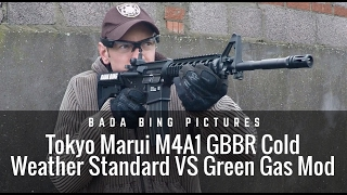 Tokyo Marui M4A1 GBBR Cold Weather: Standard VS Green Gas Mod