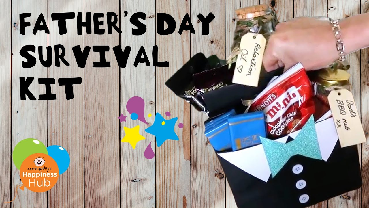 DIY Tuxedo-Themed Father's Day Survival Kit