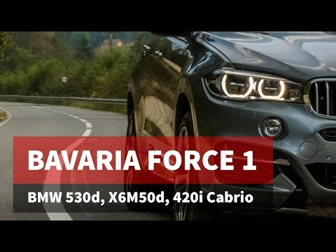 Bavaria Force 1 / BMW Seria 5 530d xDrive (G30), BMW X6M50d și BMW 420i Cabrio