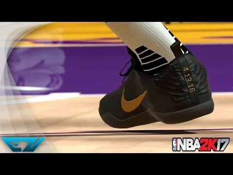 KOBE ENTIRE SHOE COLLECTION IN NBA 2K17 #KICKSMATTER (PS4, XBOX ONE S, PC)