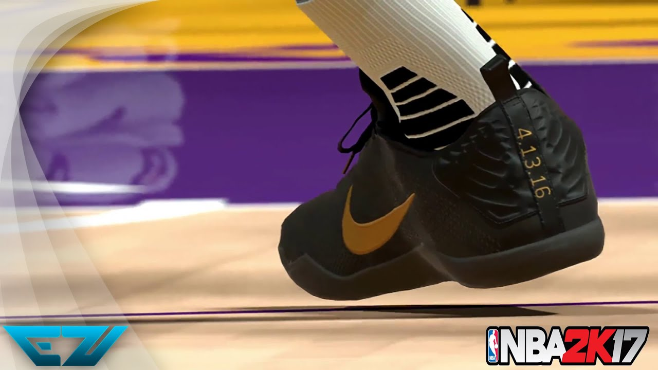 KOBE ENTIRE SHOE COLLECTION IN NBA 2K17 #KICKSMATTER (PS4, XBOX ONE S, PC)  - YouTube