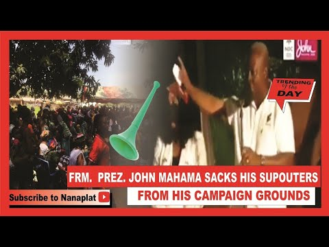 Prez. John Mahama s@cks Supporters from his Campaign Grounds for blowing Vuvuzela😲😲