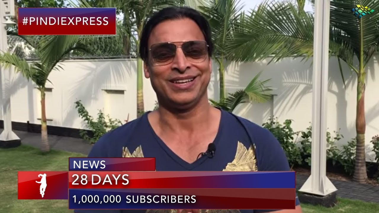 Shoaib Akhtar | Fastest 1 Million Subscribers | Love you All | Stay Tuned | World Cup 2019