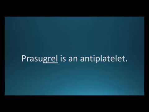 How to pronounce prasugrel (Effient) (Memorizing Pharmacology Flashcard)