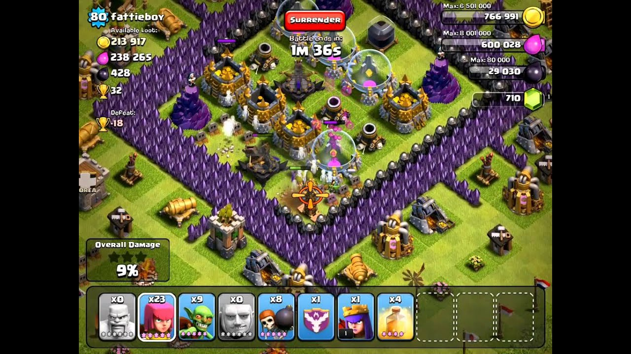 Clash of clans worst raid ever noob attack learn from this