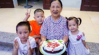 Trò Chơi Chúc Mừng Sinh Nhật Bà 100 Tuổi - Bé Nhím TV - Đồ Chơi Trẻ Em Bánh SInh Nhật