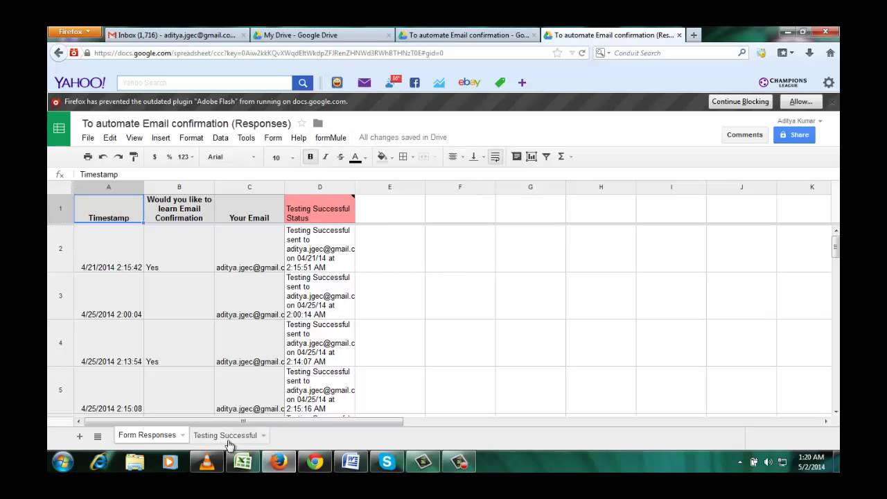 Automate confirmation email in google form - YouTube
