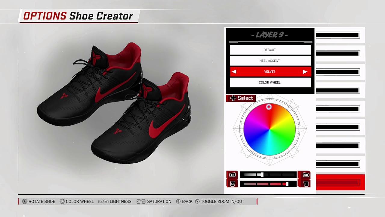 NBA 2K18 Shoe Creator Nike Kobe AD Custom
