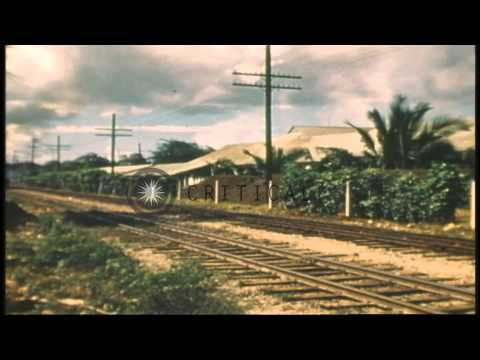 Oahu Railway and Land Co. (OR and L) Freight Trains, Oahu, Territory of Hawaii ca...HD Stock Footage