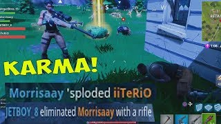 TEAM KILLER GETS KARMA - Fortnite Battle Royale