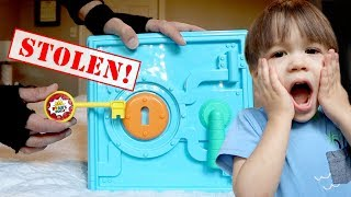 My PB and J LOST Ryan ToysReview Mystery Safe Key! Was it the Doll Maker?