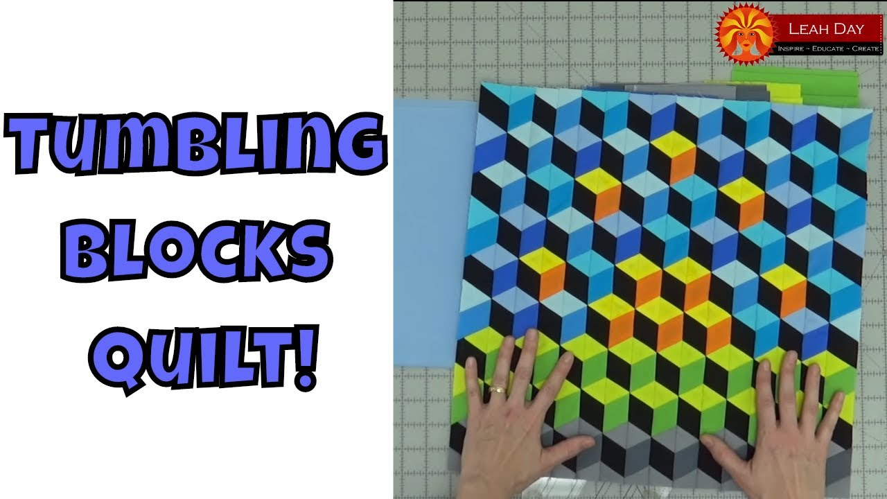Tumbling Blocks Baby Quilt Pattern.How To Make A Tumbling Blocks Quilt With No Y Seams
