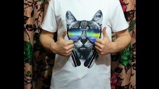 №113 Футболка музыкальный кот DJ