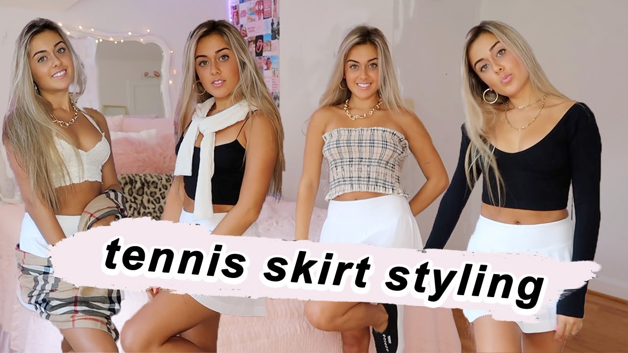 How To Style A Tennis Skirt Pleated Skirt Outfit Ideas Youtube