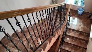 как сделать перила на лестницу фото