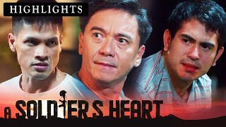 Elmer and Alex fight in front of their parents  A Soldiers Heart With Eng Subs