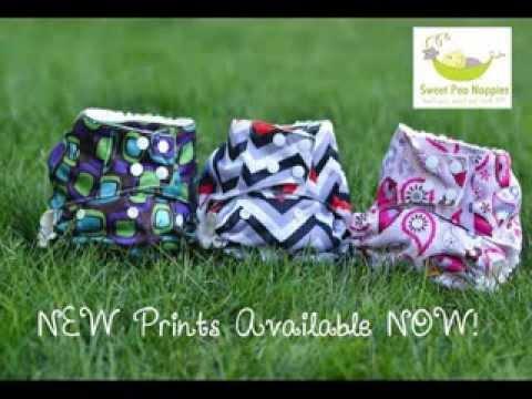 Sweet Pea Cloth Nappies - New Prints!