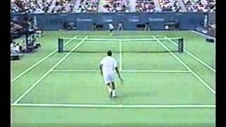 Pete Sampras great shots selection against Lleyton Hewitt (US Open 2000 SF)