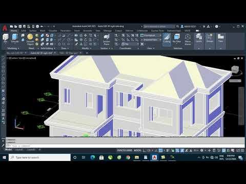 Hướng dẫn vẽ AutoCAD 3D Ngôi Nhà - Bài 8: Bố trí cửa và vật dụng nội thất vào ngôi nhà