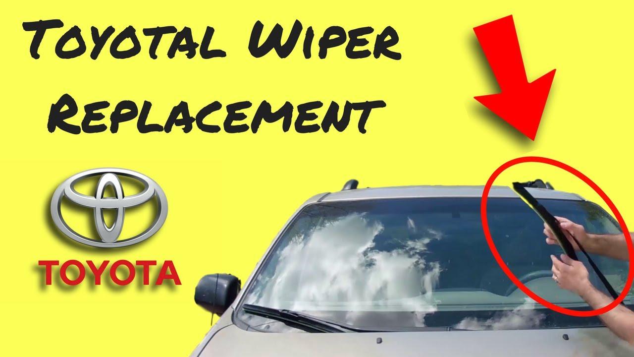 Toyota windshield wiper blade installation sienna and others