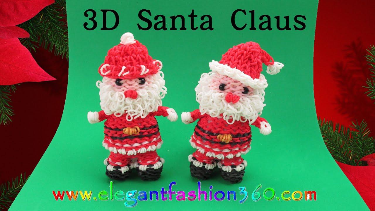 Rainbow Loom Santa Claus 3D Charm/Holiday/Christmas/Ornament - How ...