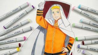 How To Draw Naruto Hokage - Step By Step (Tutorial)