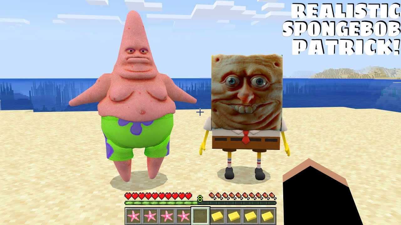 This is REALISTIC PATRICK AND SPONGEBOB in Minecraft - Coffin Meme
