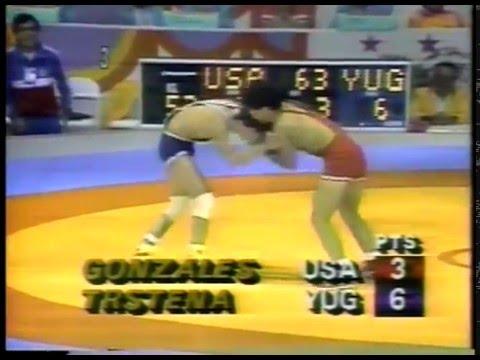 Olympics - 1984 Los Angeles - Wrestling - USA Joe Gonzales VS YUG Saban Trstena imasportsphile